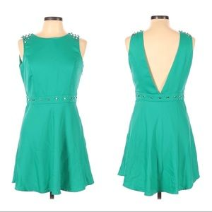 Forever 21 Exclusive green skater dress size Large